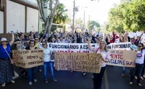 Educadores seguem em greve, sem temer ameaças - foto Marcos Labanca