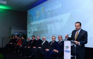 Ministro do Turismo, Henrique Alves, na abertura do evento - Foto Marcos Labanca